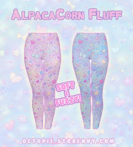 """""""AlpacaCorn Fluff"""" Velvet Leggings"""