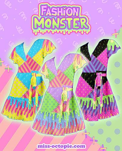 """Fashion Monster"" Flutter Wrap Dress"