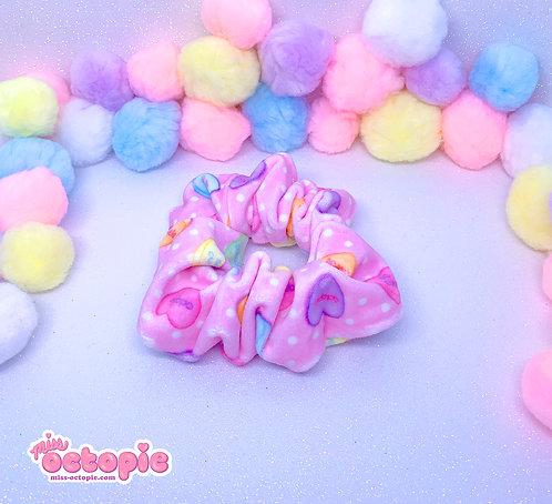 """""""Lovely Candy Heart"""" Velvet Scrunchie"""