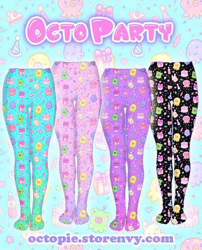 """OctoParty"" Tights or Leggings"