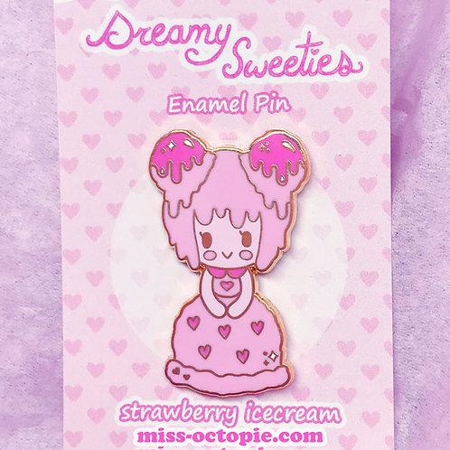 """""""Dreamy Sweeties"""" Strawberry Enamel Pin"""