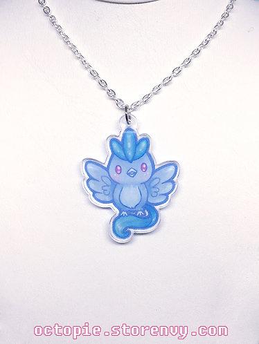 """Team Mystic: Articuno"" Small Necklace"