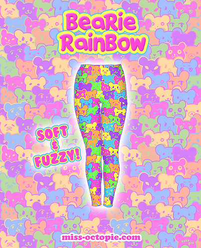 """Bearie Rainbow"" Velvet Leggings"