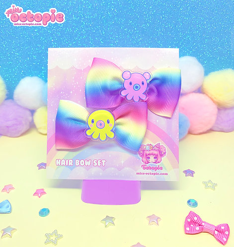 """""""OctoPals"""" Rainbow Hair Bow Set"""