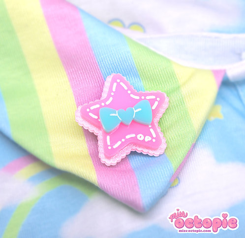 Pink Star Glitter 2-way clip