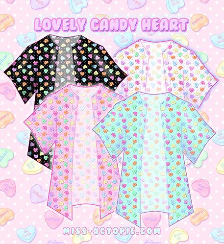 """""""Lovely Candy Heart"""" Chiffon Kimono Peignoir"""