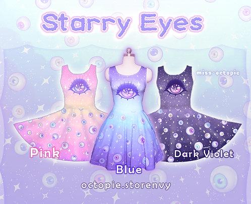 """""""Starry Eyes"""" Sleeveless Skater Dress"""
