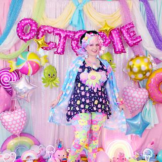 """💖 """"DreamyOcto"""" Kimono Peignoir 💖 """"OctoParty"""" Side Flare Tank Top 💖 """"OctoPals"""" Velvet Leggings"""