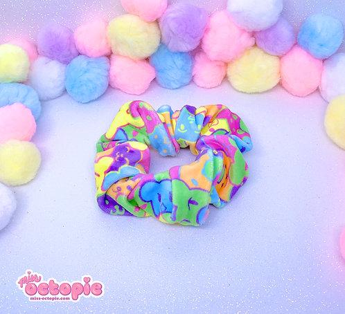 """""""Bearie Rainbow"""" Velvet Scrunchie"""