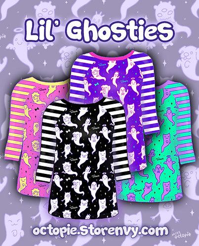 """Lil' Ghosties"" Raglan Shirt"