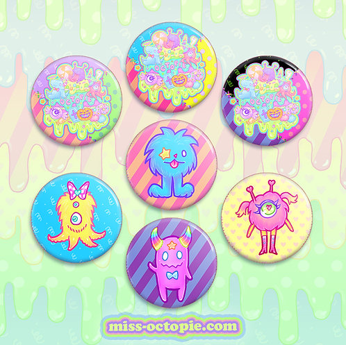 "Fashion Monster 1.5"" Button"