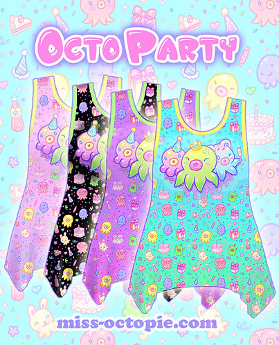 """OctoParty"" Side Flare Tank Top"