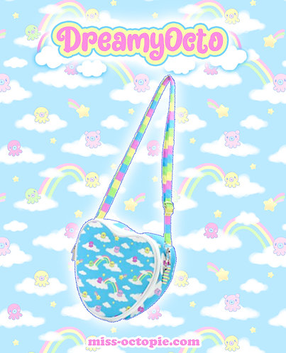 """""""DreamyOcto"""" Heart Shoulder Bag"""