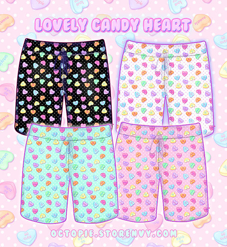 """Lovely Candy Heart"" Shorts"