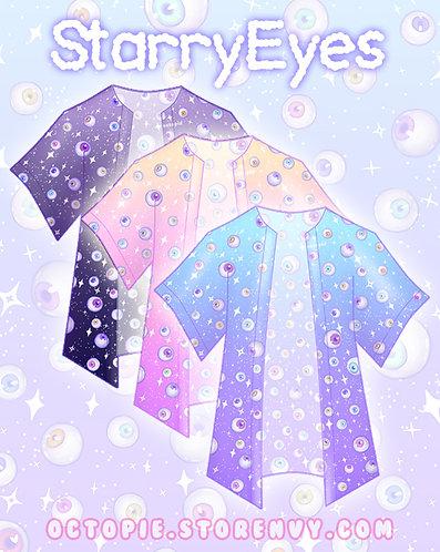 """""""Starry Eyes"""" Chiffon Kimono Peignoir"""