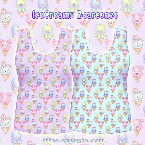 """IceCreamy Bearcones"" Tank Top"