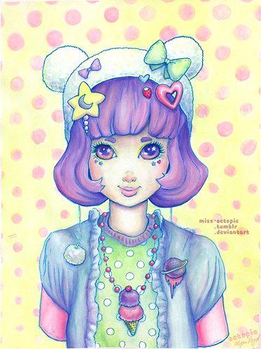 """""""Paper Dolls B"""" Art Print"""