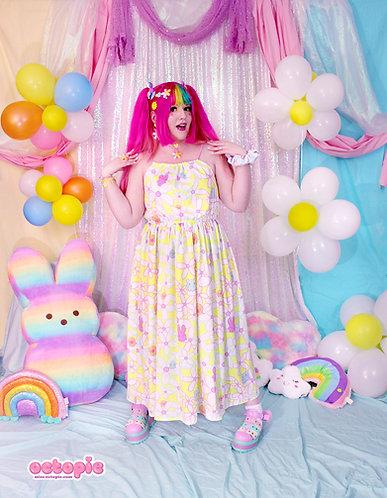 """Daisy Cute"" Sleeveless Cinched Maxi Dress"