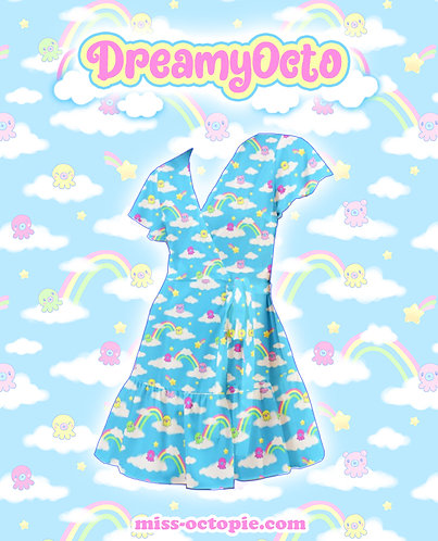 """DreamyOcto"" Flutter Wrap Dress"