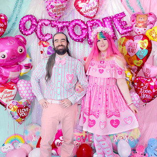 "💖 Mint ""Lacy Heart"" Long Sleeve Button-up Shirt 💖 Pink ""Lacy Heart"" Frilly Strap Dress 💖 Pink ""Lacy Heart"" Tights"