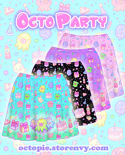 """OctoParty"" Skirt"