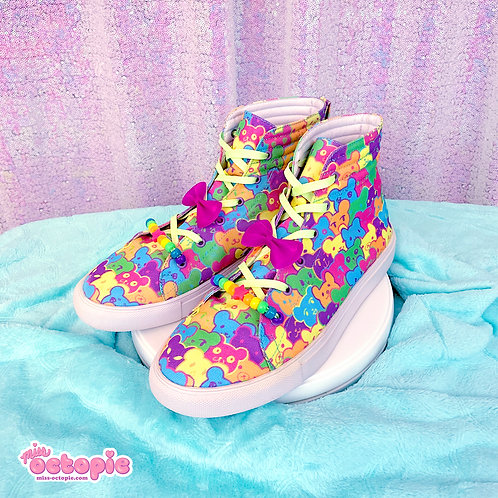 """Bearie Rainbow"" Hi-Top Shoes"