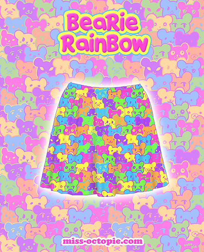 """Bearie Rainbow"" Skirt"