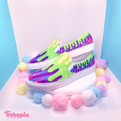 """""""Fashion Monster"""" Drippy Slip-on Shoes"""