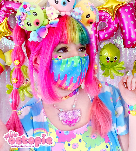 """Fashion Monster"" Drippy Face Mask"