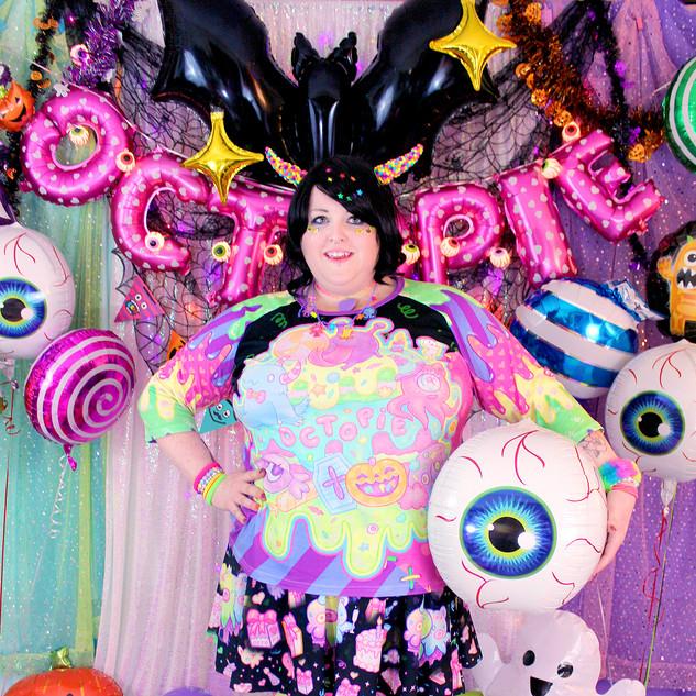 "💚Dark ""Fashion Monster"" Raglan Shirt 💚Black ""OctoParty"" Skirt 💚Pink ""Lil' Ghosties"" Leggings"