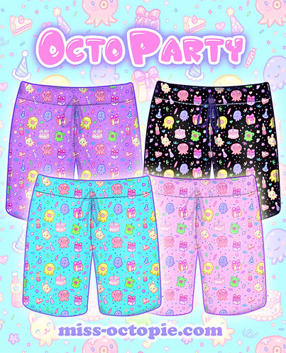 """OctoParty"" Shorts"