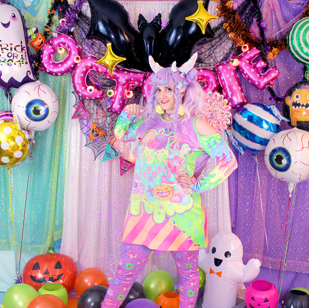 "💜Pastel ""Fashion Monster"" Velvet Cut-Out Shirt Dress 💜Purple ""OctoParty"" Leggings"
