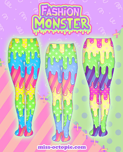 """Fashion Monster"" Drippy Tights or Leggings"