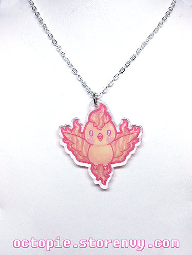"""Team Valor: Moltres"" Small Necklace"