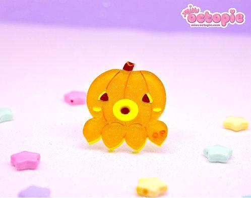 OctoPumpkin Glitter Ring