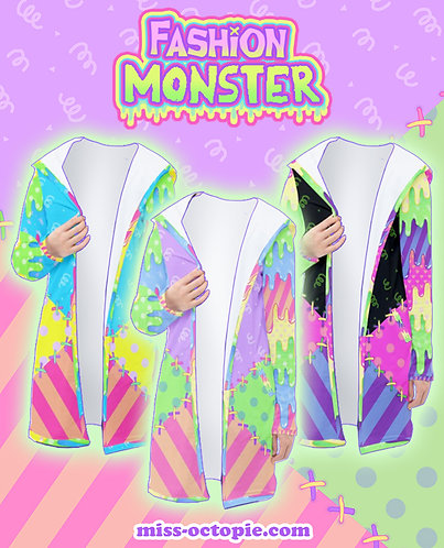 """Fashion Monster"" Long Hooded Cardigan"