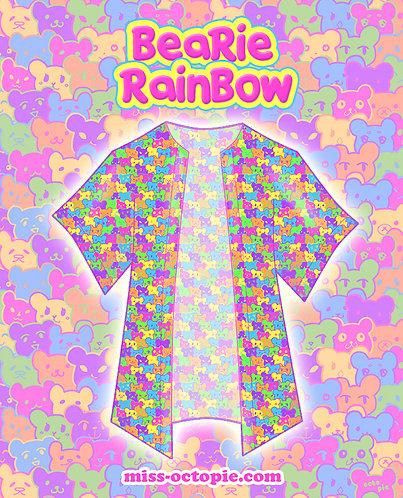 """Bearie Rainbow"" Chiffon Kimono Peignoir"