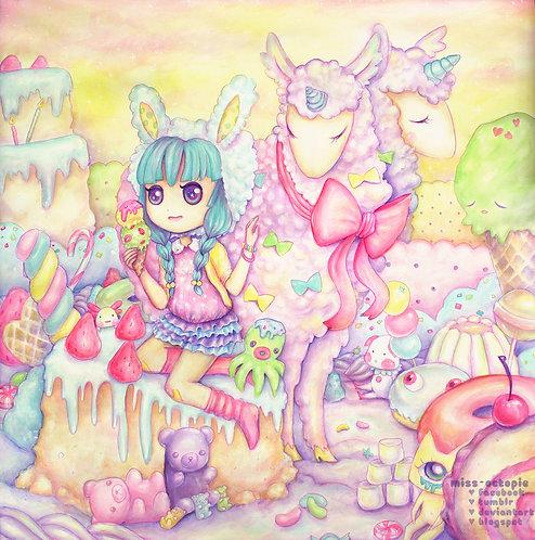 """""""Candy Fluff"""" Art Print"""
