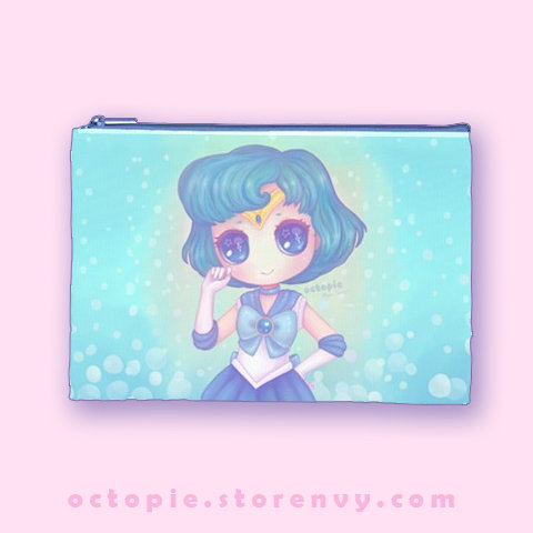 """Sailor Mercury"" Zipper Pouch"