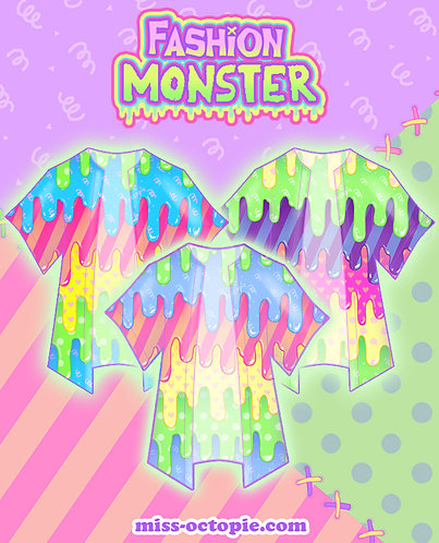 """Fashion Monster"" Drippy Chiffon Kimono Peignoir"
