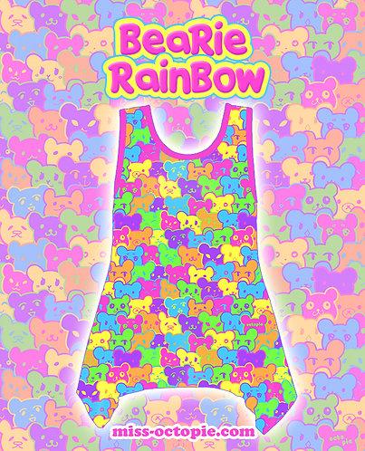 """Bearie Rainbow"" Side Flare Tank Top"