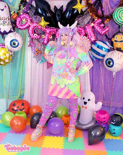 """Fashion Monster"" Velvet Cut-Out Shirt Dress"