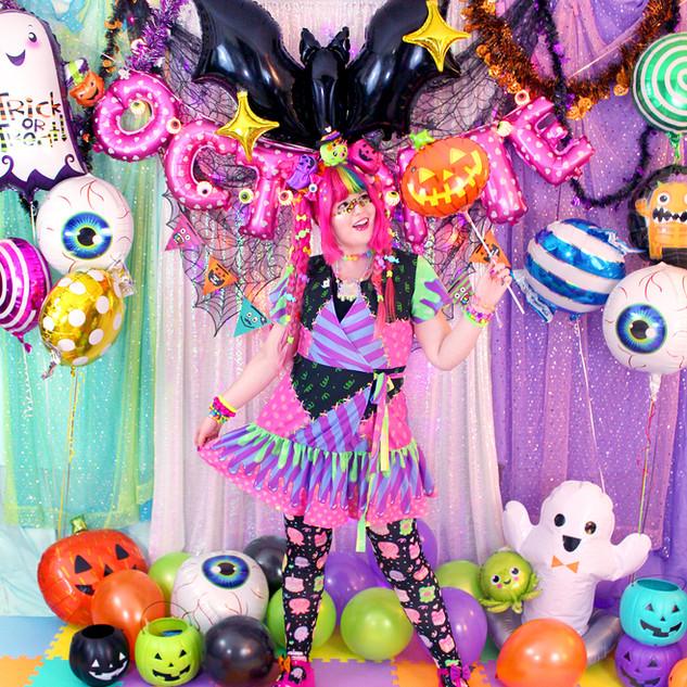 "💖Dark ""Fashion Monster"" Flutter Wrap Dress 💖Black ""OctoParty"" Tights"