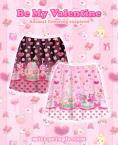 """Be My Valentine"" Animal Crossing Skirt"