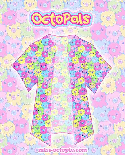 """OctoPals"" Chiffon Kimono Peignoir"