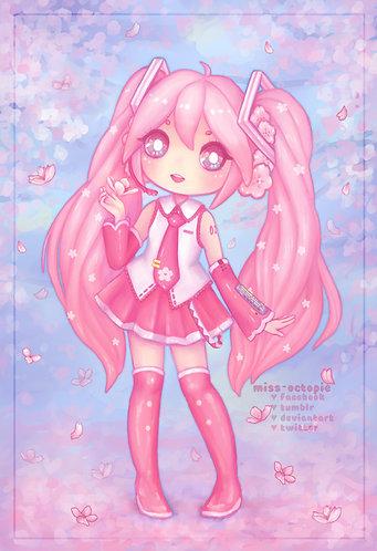 """Sakura Miku"" Art Print"