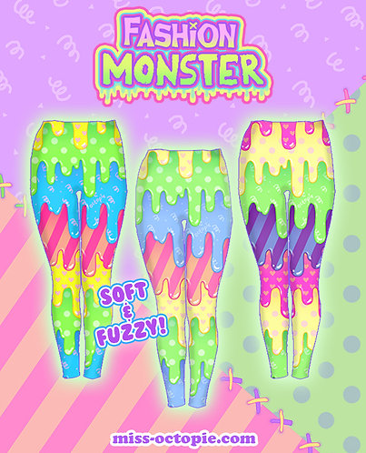 """Fashion Monster"" Drippy Velvet Leggings"