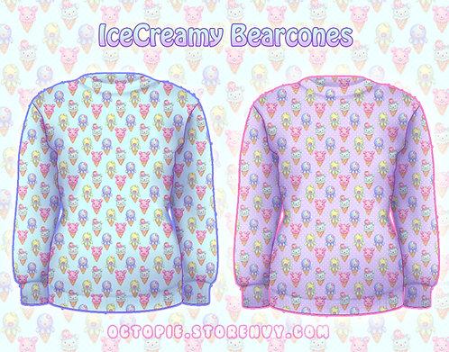 """""""IceCreamy Bearcones"""" Sweater"""
