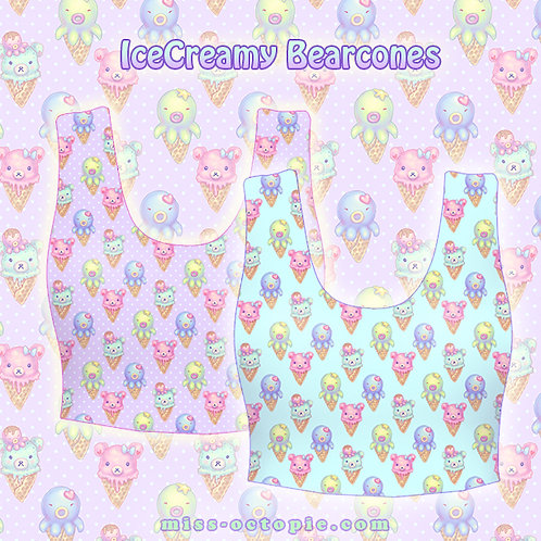 """IceCreamy Bearcones"" Crop Tank Top"