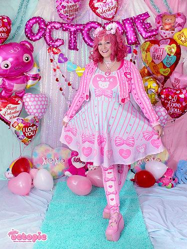 """Lacy Heart"" Sleeveless Skater Dress"